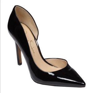 Jessica Simpson Claudette D'Orsay Patent Pumps 9M